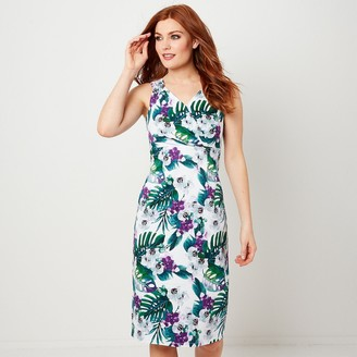 Joe Browns Sleeveless Fitted Floral Wrapover Dress