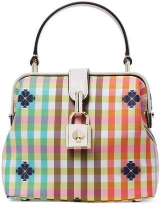 Kate Spade Small Remedy Bella Plaid Nylon Top Handle Bag