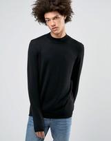 Asos Turtleneck Sweater in Black Merino Wool