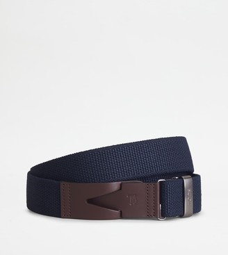 Tod's Belt in Canvas and Leather