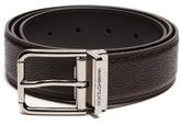 Dolce & Gabbana Grained-leather belt