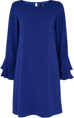 Wallis Blue Flute Sleeve Shift Dress