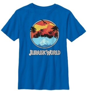 Fifth Sun Jurassic World Two Big Boys Dawn of Time Land and Water Short Sleeve T-Shirt