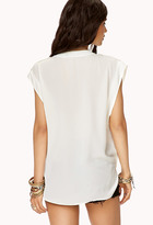 LOVE21 LOVE 21 High-Low Surplice Top