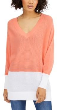 Michael Kors Michael Cotton Colorblocked Sweater