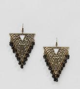 Reclaimed Vintage Inspired Beaded Triangle Drop Earrings