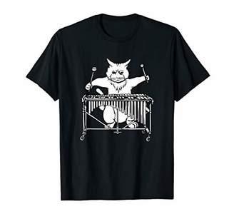 Cat Playing Vibraphone T Shirt Jazz Marimba