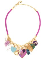 Juicy Couture Mash Up Statement Charm Necklace