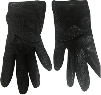 Mulberry Black Leather Gloves