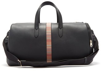 Paul Smith Signature Stripe Panelled Leather Holdall - Black