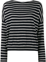 Vince cashmere knitted stripe top - women - Cashmere - XS