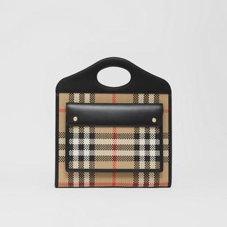 Burberry Medium Latticed Leather Pocket Bag