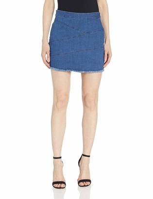 BCBGeneration Women's Frayed Edge Denim Mini Skirt