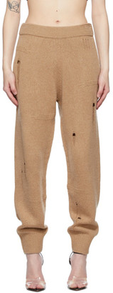 Helmut Lang Tan Distressed Lounge Pants