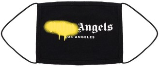 Palm Angels Logo Paint Print Face Mask