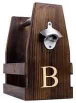 Monogram Rustic Craft Beer Carrier with Bottle Opener