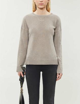 Zadig & Voltaire Cici patch-detail cashmere jumper