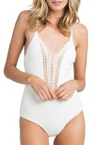 Billabong Women's 'Hippie Hooray' Crochet One-Piece Swimsuit