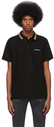 Burberry Black Johnston Polo