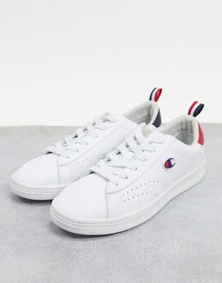 Champion Court Club Patch sneakers in white