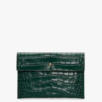 Alexander McQueen Skull Green Clutch Bag