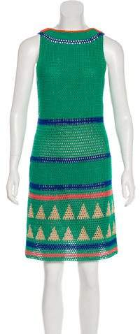 Alberta Ferretti Embellished Crochet Dress