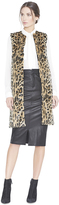 Alice + Olivia Jade Faux Fur Long Vest