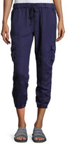 Joie Argine Linen Jogger Pants, Blue
