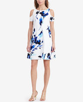 Lauren Ralph Lauren Crepe Floral-Print Cold-Shoulder Dress