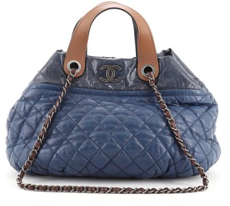Chanel In The Mix Tote Quilted Iridescent Calfskin Medium