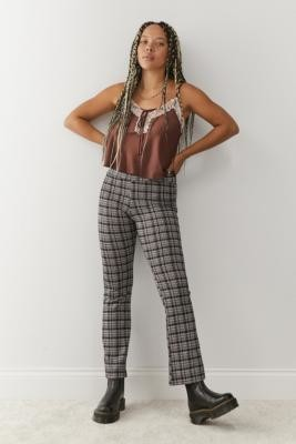 Daisy Street Fitted Flare Trousers - Black XS at Urban Outfitters