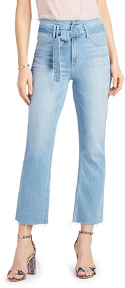 Sam Edelman The Stiletto Belted Kick Flare Jeans