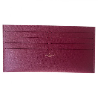 Louis Vuitton Burgundy Leather Purses, wallets & cases