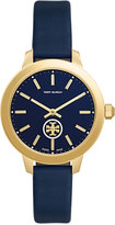 Tory Burch Women's Swiss Collins Navy Leather Strap Watch 38mm TB1203