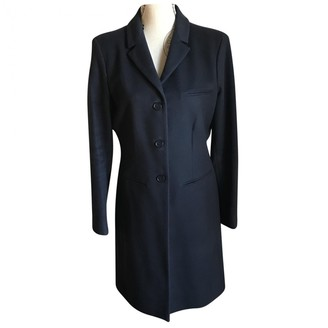 Calvin Klein Collection Blue Wool Coat for Women