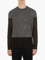 Lanvin Striped Panel T-Shirt