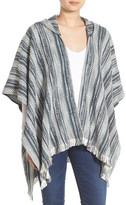 Hinge Stripe Hooded Poncho