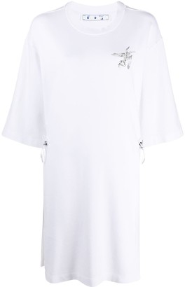 Off-White Birds motif T-shirt dress
