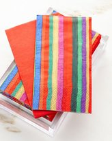 Caspari 30 Guest Towels in Acrylic Holder - Balthazar Stripe