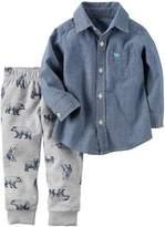 Carter's Boys'-7 2 Piece Long Sleeve Top and Pants Set