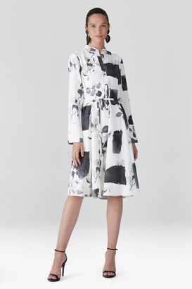 Natori Zen Garden - Silky Soft Shirt Dress