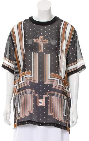 Givenchy Printed Silk Top w/ Tags