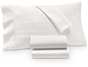Charter Club Damask Windowpane Supima Cotton 550-Thread Count 3-Pc. Twin Sheet Set, Created for Macy's Bedding