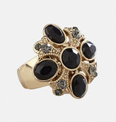 Avenue Black Faceted Stretch Ring