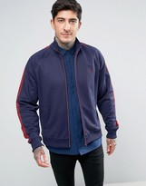 Fred Perry Contrast Panel Track Jacket In Navy