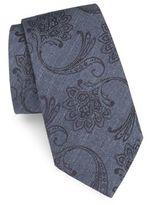 Ike Behar Floral Silk Tie