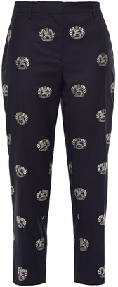 Burberry Wool-jacquard Tapered Pants