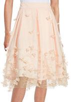 Eliza J Floral Applique A-Line Skirt