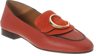 Chloé C Leather & Suede Loafer