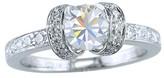 Tiffany & Co. Platinum .89ct Diamond Engagement Ribbon Ring Size 4.25